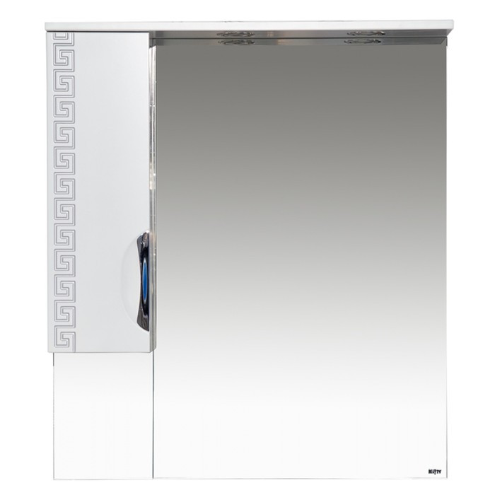 Престиж - 80 Зеркало-шкаф (левое) серебряная патина - фото 2