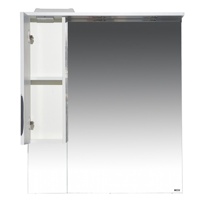 Престиж - 80 Зеркало-шкаф (левое) серебряная патина - фото 3