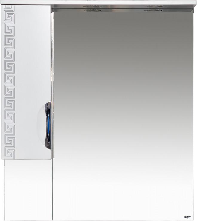 Престиж - 80 Зеркало-шкаф (левое) серебряная патина - фото 1