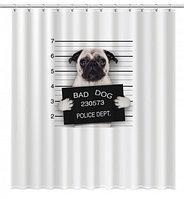 """Шторка для ванной Fixsen """"DOGS"""" FX-2504, фото 1"""
