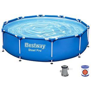 Бассейн каркасный круглый Bestway 305х76 см.(в комплекте: насос с фильтром 220V) 56679, фото 2