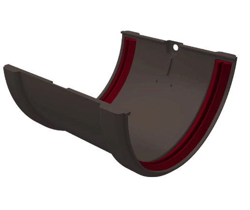 Соединитель желоба 120x85 мм Серый Grand Line