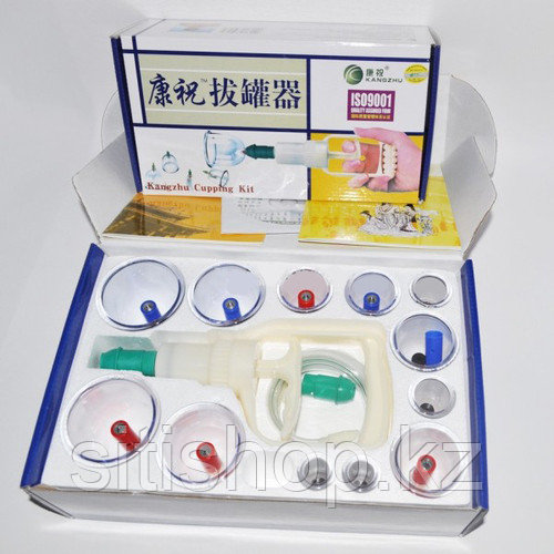 Аппарат для хиджамы (кровопускания) 12 банок Kangzhu
