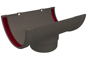 Воронка желоба 120x87 мм Серый Grand Line