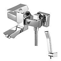 Смеситель Lemark Unit LM4514C для ванны с плоским изливом 107мм,боковой дивертор, хром (к/к 8)