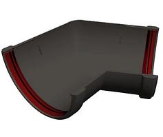 Угол желоба 135° универсальный 120x87 мм Серый Grand Line