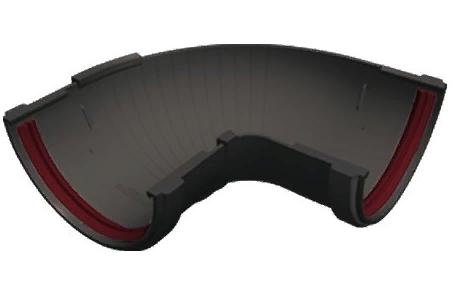 Угол желоба 90°-150° универсальный 120x85 мм Серый Grand Line