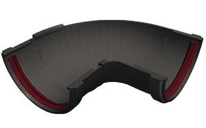 Угол желоба 90°-150° универсальный 120x87 мм Серый Grand Line