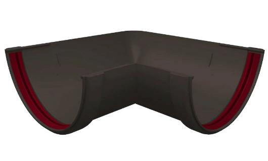 Угол желоба 90° универсальный 120x85 мм Серый Grand Line