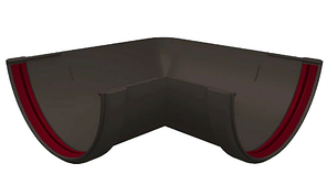 Угол желоба 90° универсальный 120x87 мм Серый Grand Line
