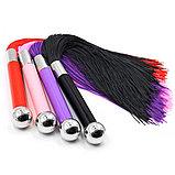 Плетка с удобной ручкой (цвет красный, черный), фото 3