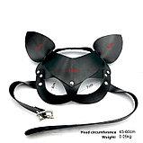 Кожаная маска Мышка со стразами, фото 4