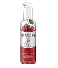 Гель-смазка массажная Masculan Massage gel&Lube Cherry 2в1, 130 мл