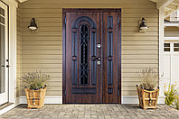 Дверь входная Ferroni Vikont Сосна Белая двухстворчатая (1200 мм)