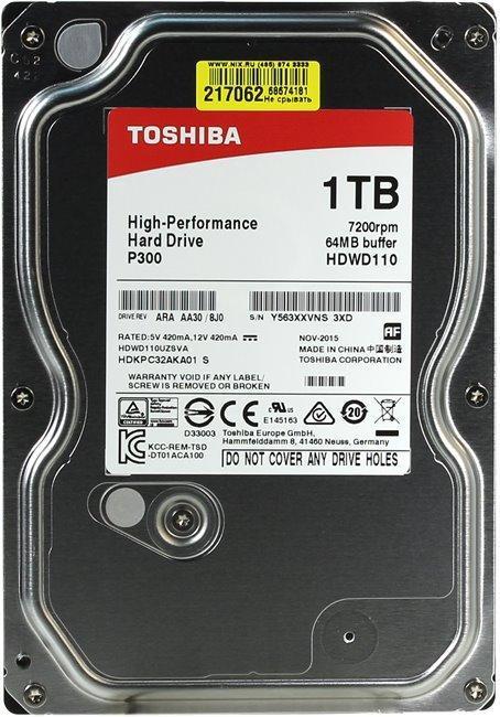 """HDD 1000 Gb Toshiba HDWL110UZSVA, 2.5"""", 128Mb, 5400rpm, Serial-ATA III-600, OEM"""