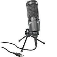Конденсаторный шнуровой микрофон AUDIO-TECHNICA AT2020 USB PLUS