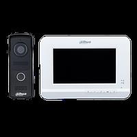 Видеодомофон комплект Dahua VTO2010D-VTH2020DW