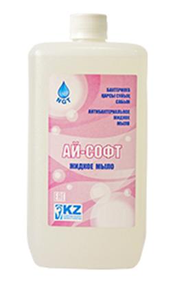 Антибактериальное жидкое мыло Ай-Софт, 1 литр