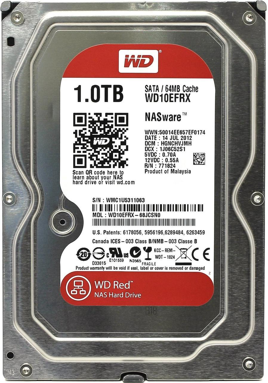 "HDD 1000 Gb Western Digital, 3.5"", 64Mb, 5400rpm, Serial ATA III-600, WD Red, NAS Hard Drive"