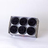 Роза Стандарт (черный); 6 бутонов