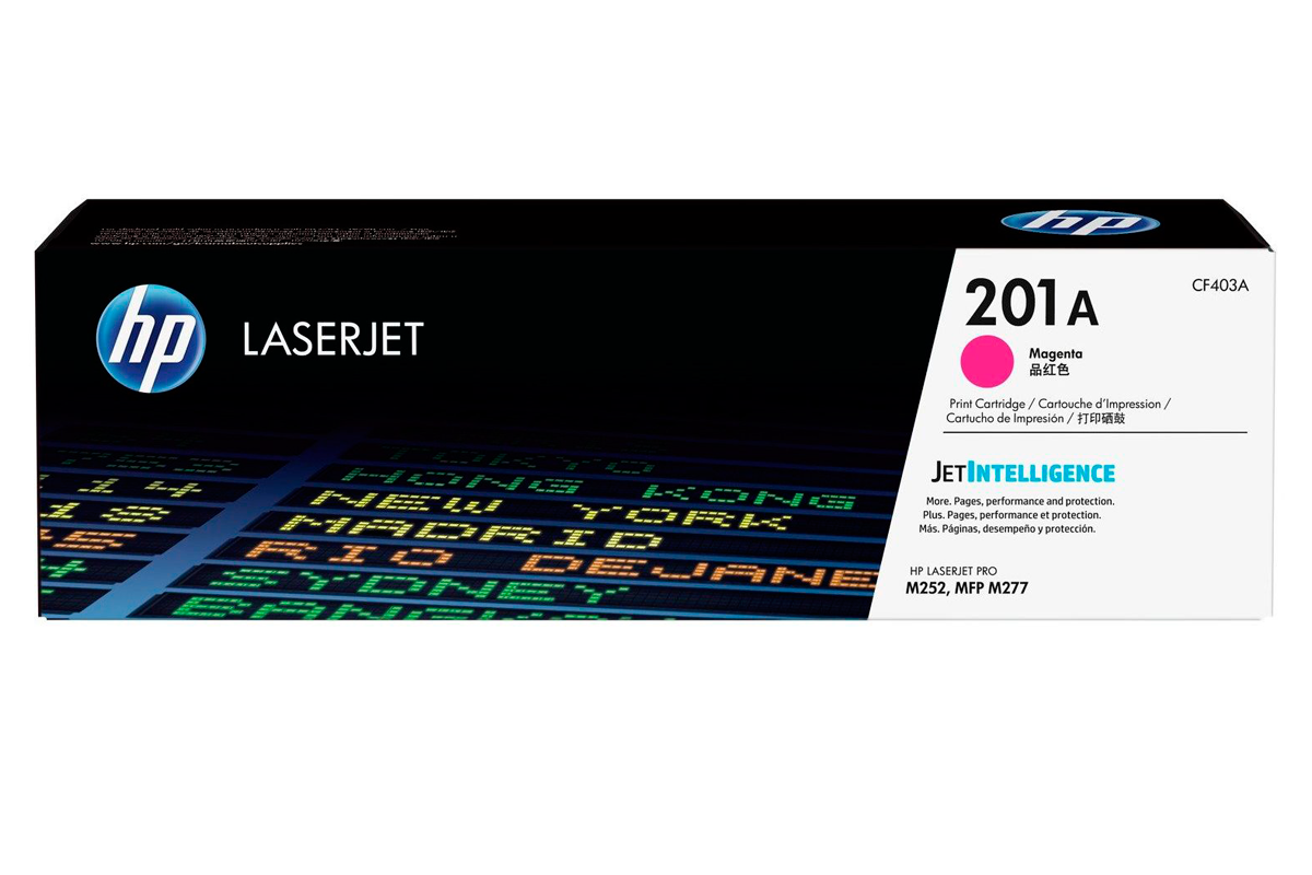HP CF403A 201A Magenta Toner Cartridge for Color LaserJet Pro M252/MFP M277, up to 1400 pages