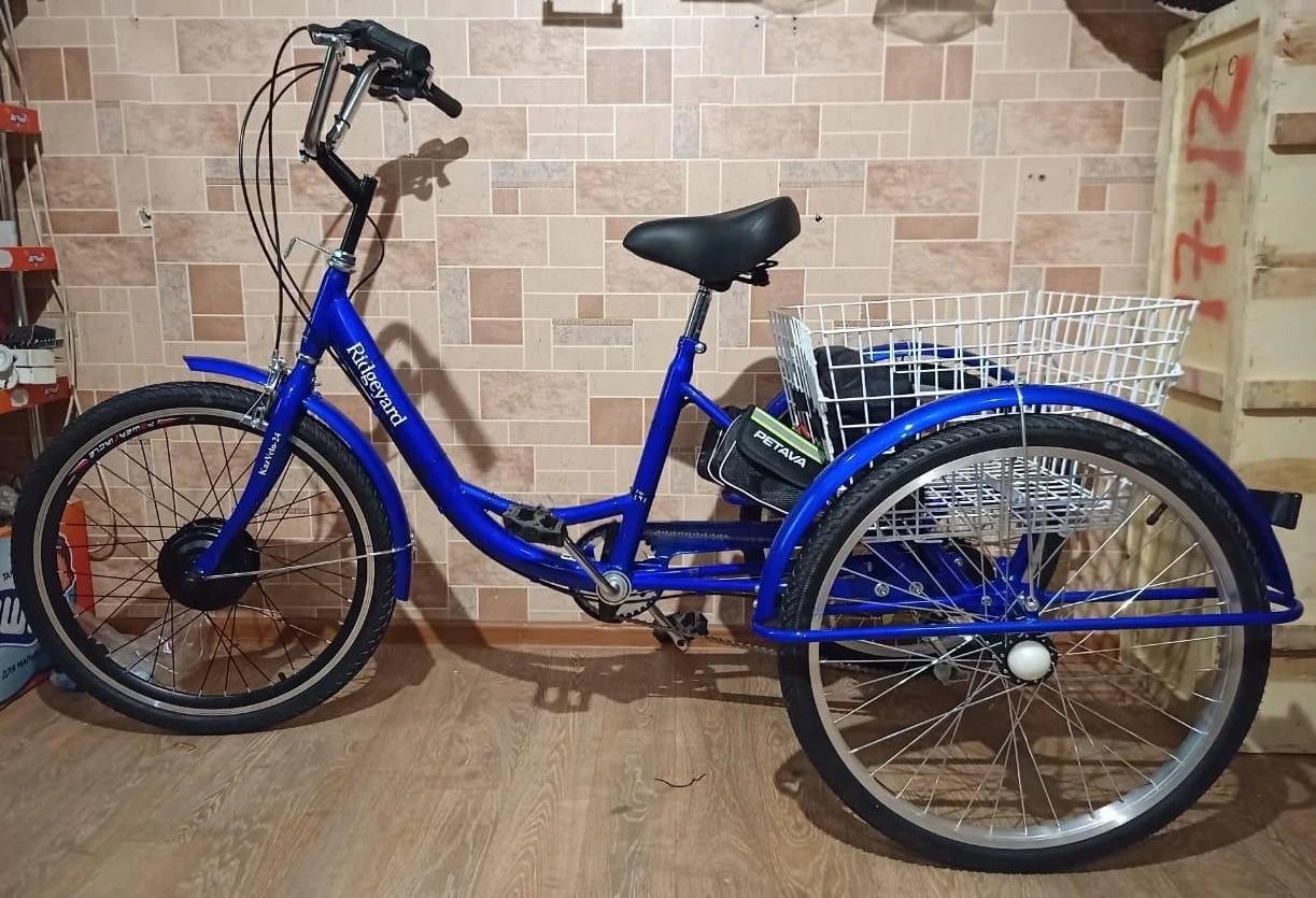 """36v 350w, аккум. Li-ion 36v 25A/H. Электровелосипед трехколесный. Вес 30 Кг. Колеса 24""""."""