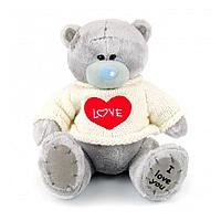"""Мягкая игрушка """"Мишка Тедди"""" 20 см в белом свитере"""