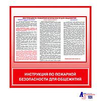 """Плакат """"Инструкция по пожарной безопасности для общежитий"""""""