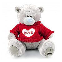 """Мягкая игрушка """"Мишка Тедди"""" 20 см в красном свитере"""