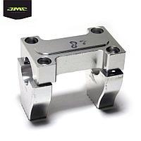 Траверсы и компоненты JMC PARTS Кронштейн крепления руля алюминий CNC silver 22.2 мм к-т