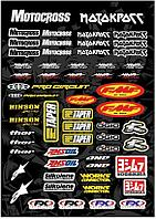 Наклейки и стикеры JMC ACCESSORIES Наклейки Motocross mix logo A3 винил #15
