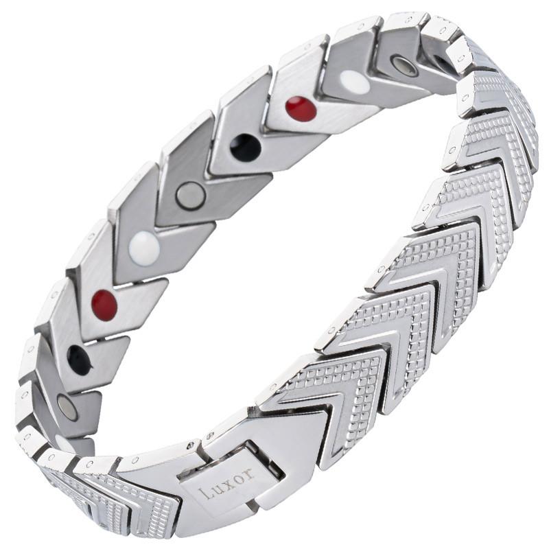 Магнитный браслет Адамантин Silver