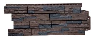 Фасадные панели Орех 1110х418 мм Сланец ЭЛИТ Grand Line