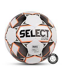 Мяч футзальный FUTSAL MASTER №4, бел/оранж/черн Select