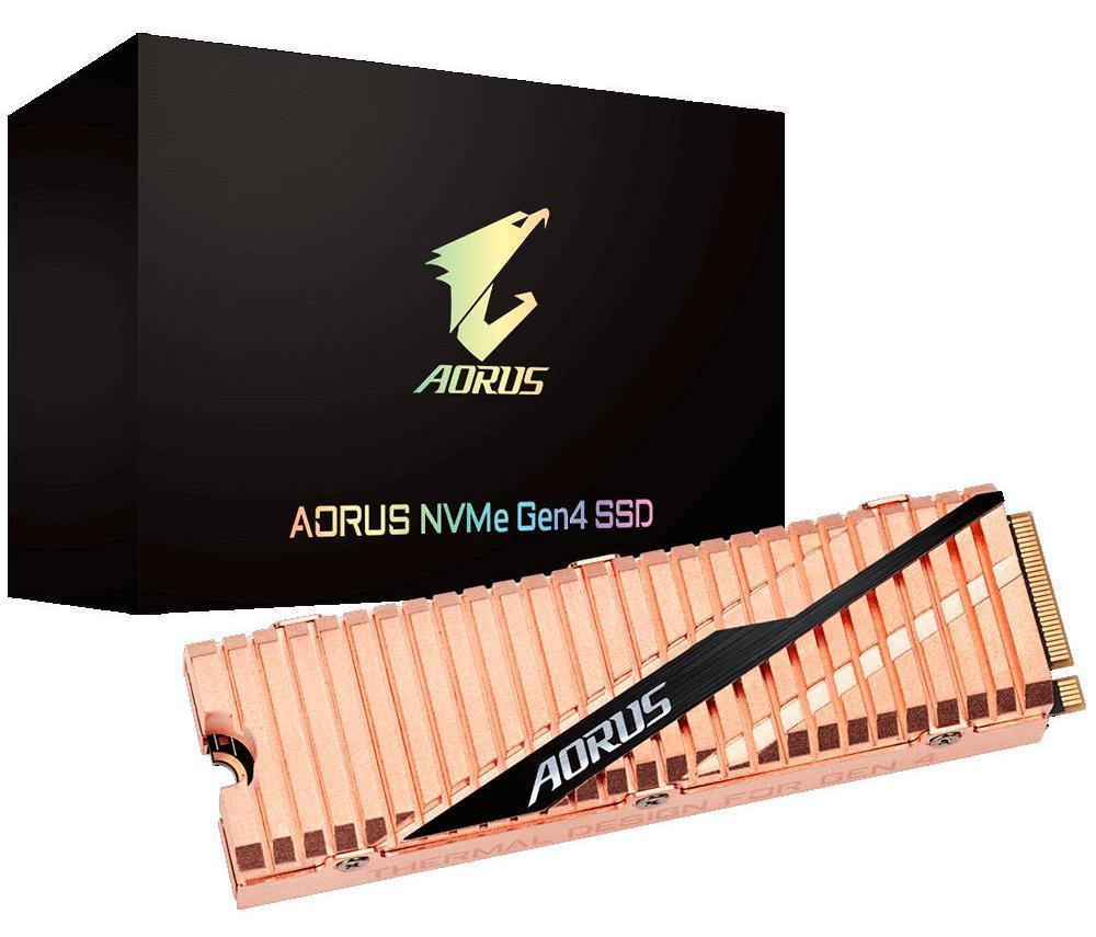 Твердотельный накопитель 500Gb SSD Gigabyte AORUS Client M.2 2280  PCIe Gen4x4 with NVMe, 5000/2500