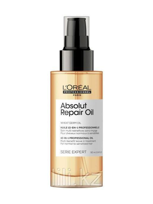 Масло для восстановления поврежденных волос 10в1 Loreal Absolut Repair Gold 90 мл.