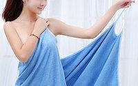 Банное полотенце на бретелях голубое