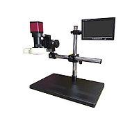 DL-UNI20025, Комплект с микроскопом VGA, HDMI 14 МП с подсветкой, монитором и штативом