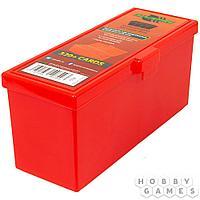Пластиковая коробочка Blackfire для четырёх колод - Красная (320+)