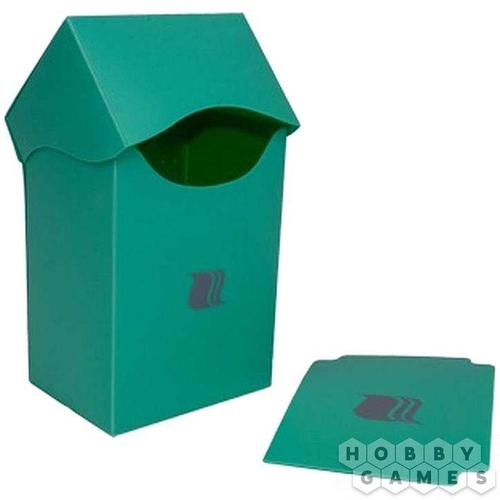 Пластиковая коробочка Blackfire вертикальная - Светло-зелёная (80+ карт)