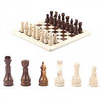 "Шахматы из камня ""Европейские"" доска 30х30 см оникс мрамор"