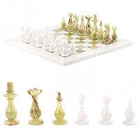 "Сувенирные шахматы ""Стандарт"" доска 38х38 см из оникса и мрамора"