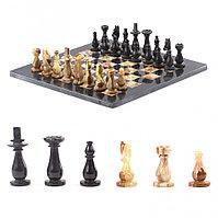 "Декоративные шахматы из камня ""Люкс"" доска 38х38 см оникс мрамор"
