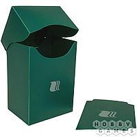 Пластиковая коробочка Blackfire вертикальная - Зелёная (80+ карт)