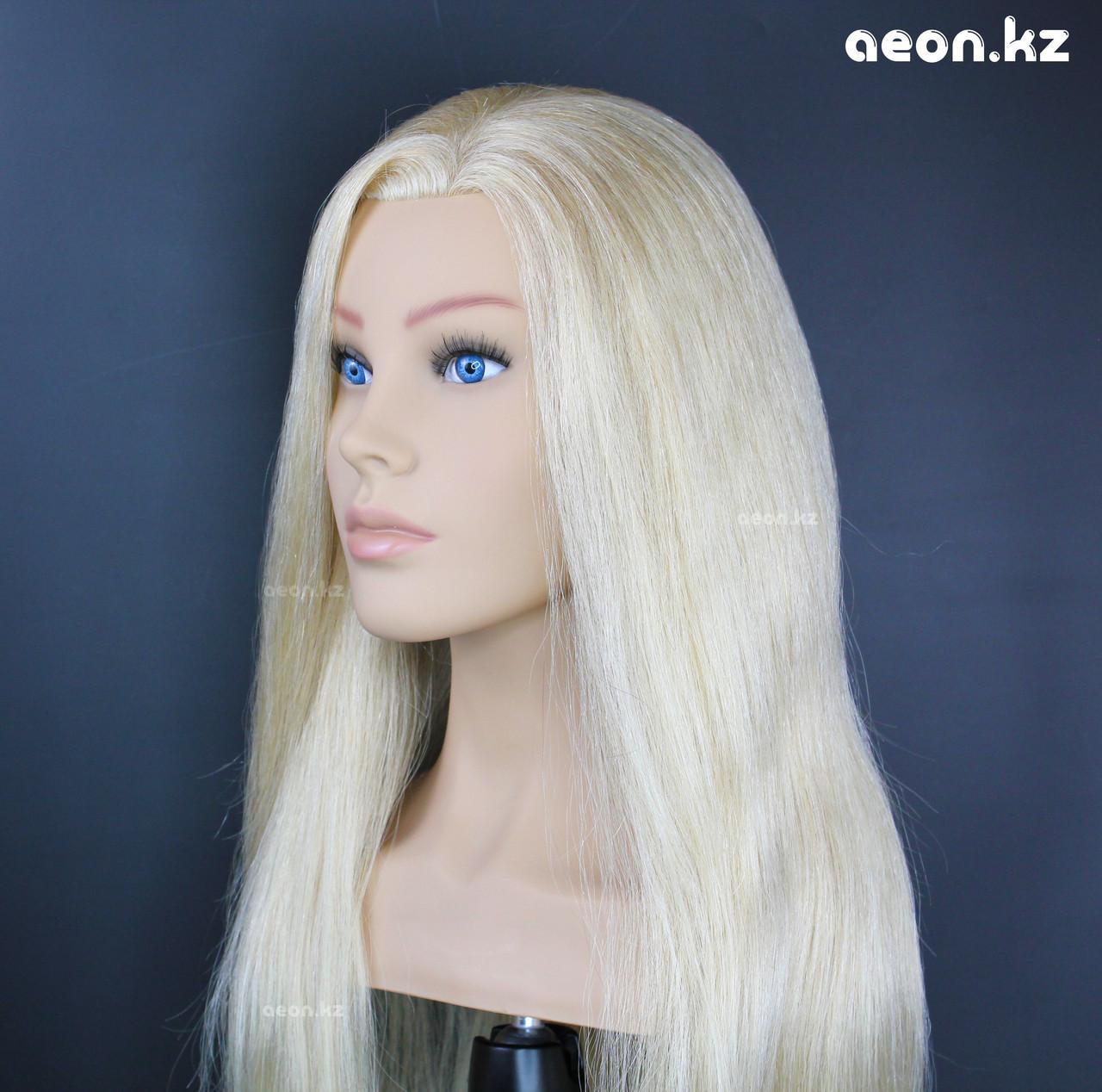 Голова-манекен AEON светло русый волос натуральный (100%) - 60 см - фото 3
