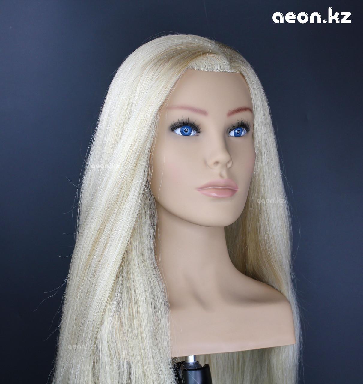 Голова-манекен AEON светло русый волос натуральный (100%) - 60 см - фото 2