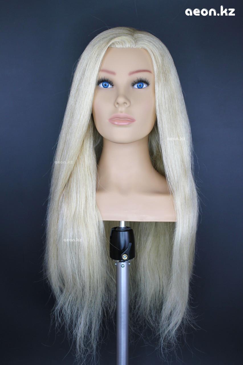 Голова-манекен AEON светло русый волос натуральный (100%) - 60 см - фото 1
