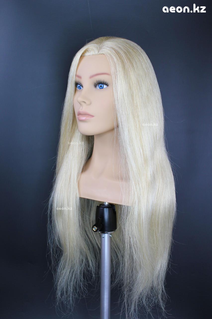 Голова-манекен AEON светло русый волос натуральный (100%) - 60 см - фото 4