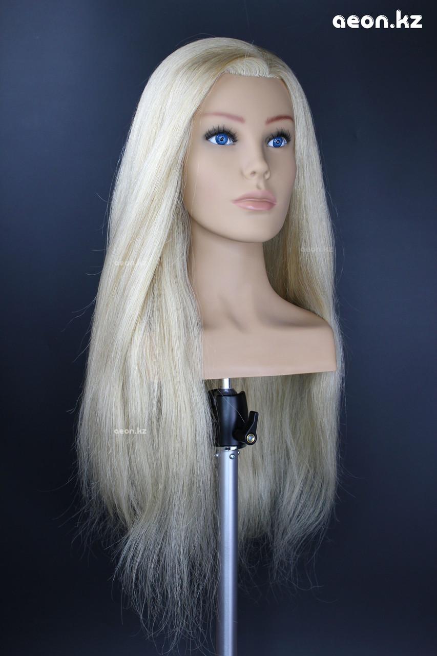 Голова-манекен AEON светло русый волос натуральный (100%) - 60 см - фото 5
