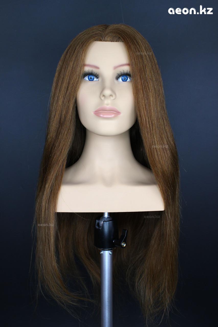 Голова-манекен AEON каштан волос натуральный (100%) - 60 см